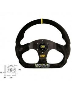 Volant 3 branches Diamètre 330mm OMP Superquadro Peau retournée Noir
