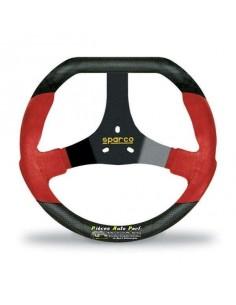 VolANT Karting SPARCO F320U Noir/Rouge Alcantara/Carbone look