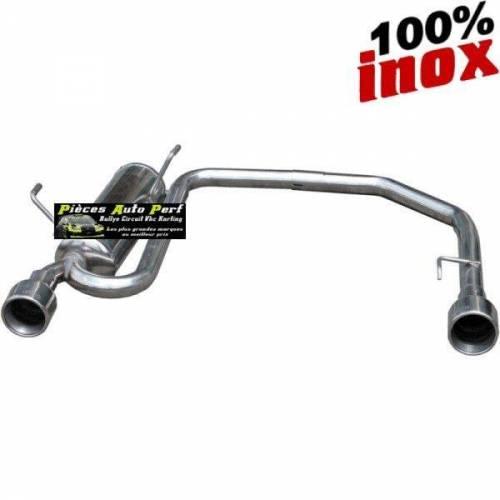 SILENCIEUX DUPLEX INOX SIMPLE SORTIES RONDES Diamètre 102mm Peugeot 106 1.1 Année 1996 à 2000