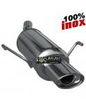 SILENCIEUX INOX SIMPLE SORTIE OVALE Diamètre 120x80mm Peugeot 106 1.1 Année 1996 à 2000