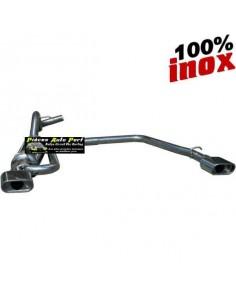 SILENCIEUX DUPLEX INOX SIMPLE SORTIES OVALES Diamètre 120x80mm Peugeot 106 1.1 Année 1996 à 2000