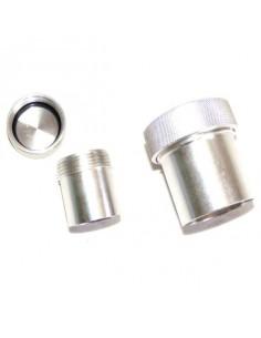 Bouchon aluminium avec goulotte à souder Diamètre 38mm