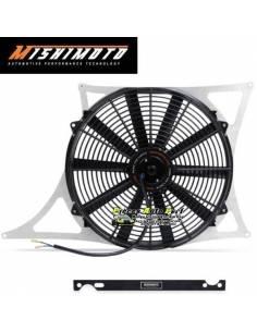 Ventilateur aluminium Gros débit extra-plat MISHIMOTO 3150m3/h BMW E46 M3