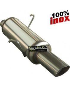 SILENCIEUX INOX SIMPLE SORTIE RALLY Diamètre 90mm Peugeot 106 1.6 16v Année 1996 à 2003