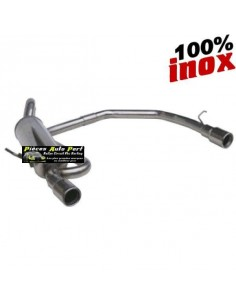 SILENCIEUX DUPLEX INOX SIMPLE SORTIES RONDES Diamètre 80mm Peugeot 106 1.6 16v Année 1996 à 2003