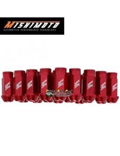 Set de 20 Ecrous de roue Racing coniques ouverts Alu Rouge Filetage 12x150