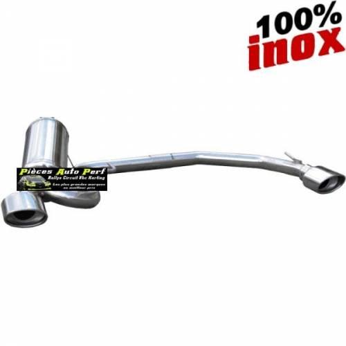 SILENCIEUX DUPLEX INOX SIMPLE SORTIES OVALES Diamètre 120x80mm Peugeot 106 1.6 16v Année 1996 à 2003