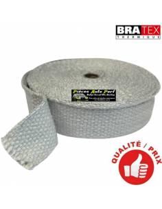 Ruban isolant Blanc pour Collecteur/Echappement Largeur 2.5cm Longueur 15m