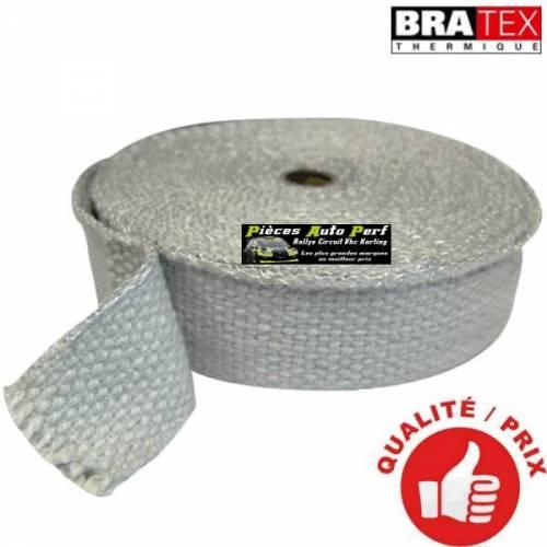 Ruban isolant Blanc pour Collecteur/Echappement Largeur 5cm Longueur 15m
