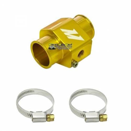 Adaptateur Alu Or pour sonde température Eau sur Durite diamètre 30mm
