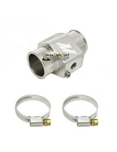 Adaptateur Alu Argent pour sonde température Eau sur Durite diamètre 28mm