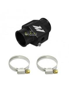 Adaptateur Alu Noir pour sonde température Eau sur Durite diamètre 30mm