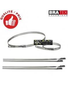 6 Colliers Inox Spécial Isolant Thermique Longueur 46cm