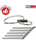 12 Colliers Inox Spécial Isolant Thermique Longueur 23cm
