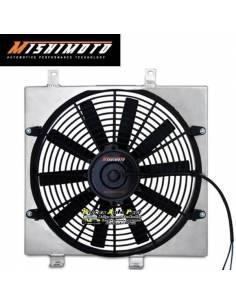 Kit Ventilateurs aluminium Gros débit extra-plat MISHIMOTO 1950m3/h MITSUBISHI Lancer Evo 7/8/9