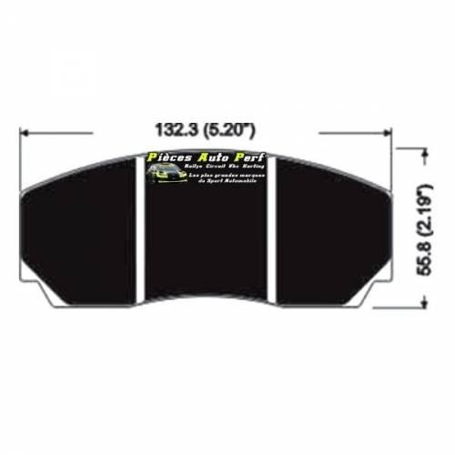Plaquettes de freins RACING pour Etriers AP Racing CP3215 D50 4 pistons