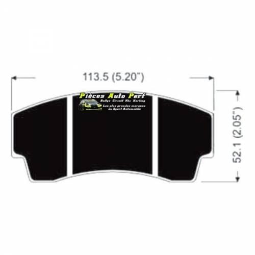 Plaquettes de freins RACING pour Etriers AP Racing CP3345 D44 4 pistons