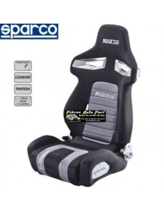 Siège sportif réglable SPARCO R333 Forza Noir/Gris