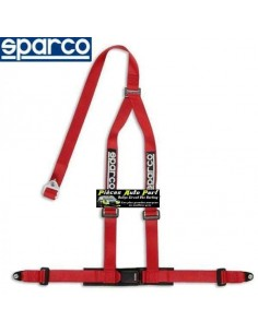 Harnais routier 3 points de fixation par vis SPARCO ROAD Rouge
