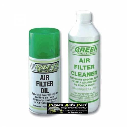 KIT HUILE SPECIALE + NETTOYANT GREEN Pour Filtres et Admission Directe