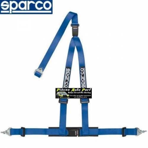 Harnais routier 3 points de fixation par mousquetons Double boucle SPARCO ROAD Bleu