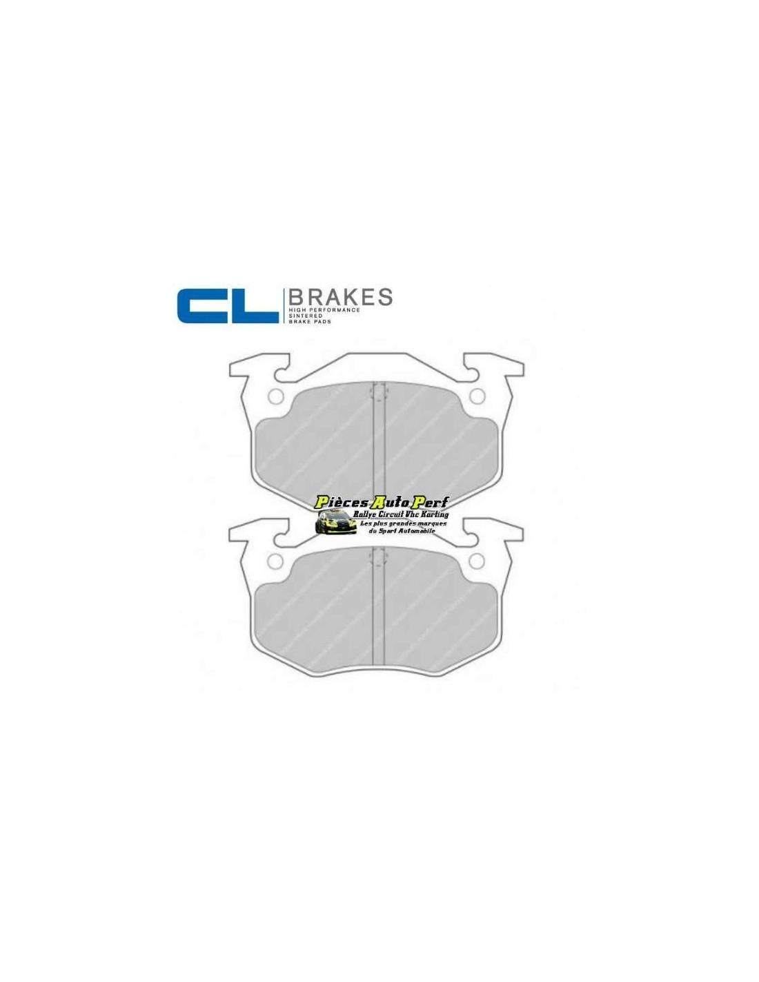 plaquettes de freins arri re cl brakes pour peugeot 206 2l0 rc. Black Bedroom Furniture Sets. Home Design Ideas