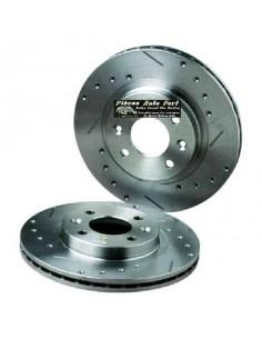 2 Disques de freins Avant Percés Rainurés 257x22mm FIAT 500 1l4 16v