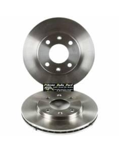 2 Disques de freins Avant groupe N Traités 280x25mm OPEL Astra H 1l4