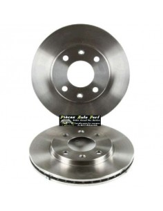 2 Disques de freins Avant groupe N Traités 247x20mm CITROEN Saxo 1l6 16v