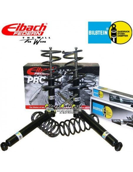 Pack Amortisseurs Bilstein + Ressorts courts Eibach -30/-30mm Peugeot 106 phase 2 1l5 D