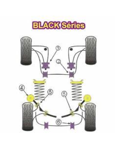 2 Silentblocs excentriques renforcés Black pour Arrière de triangle inférieur avant BMW E30