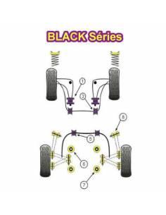2 Silentblocs renforcés Black pour Arrière de triangle inférieur avant BMW E36
