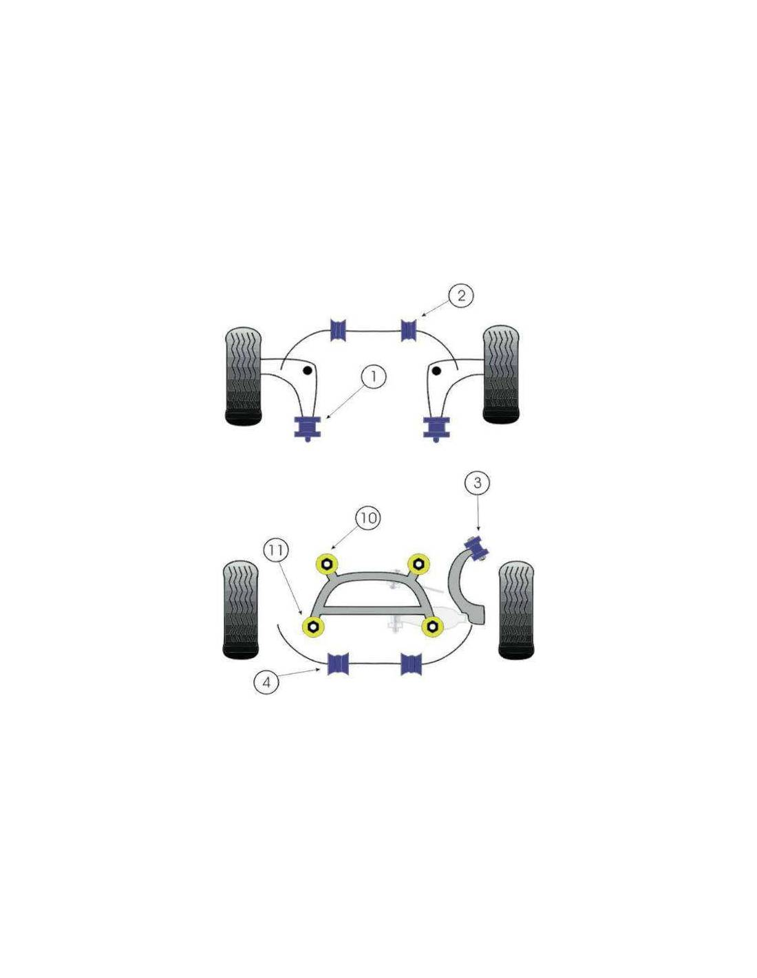 2 silentblocs renforc s performance arri re triangle inf rieur avant bmw e46. Black Bedroom Furniture Sets. Home Design Ideas
