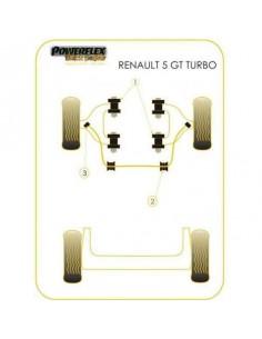 4 Silentblocs renforcés Black pour Triangle avant RENAULT 5 GT Turbo