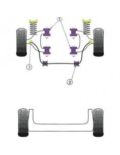 4 Silentblocs renforcés Performance pour Triangle avant RENAULT Clio 1 16s