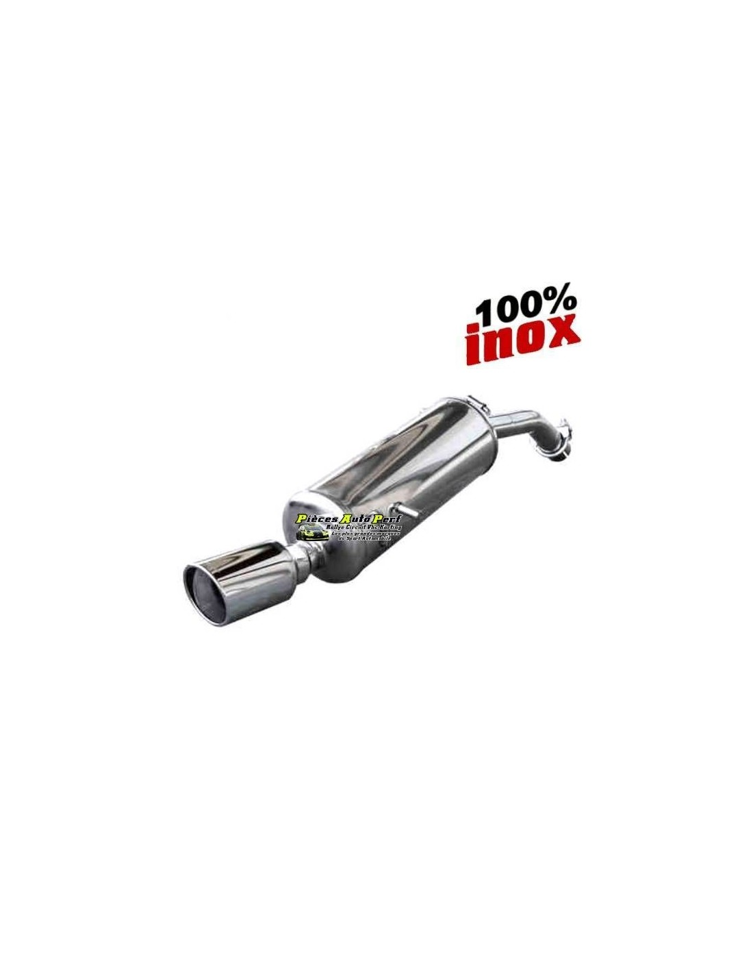 silencieux sportif inox simple sortie x race 90mm renault clio 1l8 16s. Black Bedroom Furniture Sets. Home Design Ideas