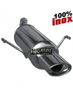 Silencieux échappement arrière Inox 1 sortie Ovale 90x70mm RENAULT Clio 1l8 16s