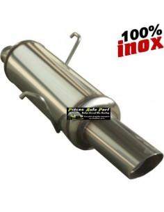 Silencieux échappement arrière Inox 1 sortie Rally 90mm RENAULT Clio 2 1l6 16v