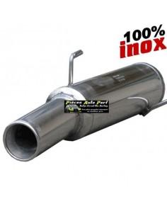 Silencieux échappement arrière Inox 1 sortie Ronde 102mm RENAULT Clio 2 1l6 16v