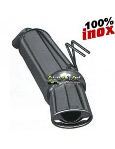 Silencieux échappement arrière Inox 1 sortie Ovale 120x80mm RENAULT Clio 2 1l6 16v