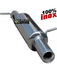 Silencieux échappement arrière Inox 1 sortie Ronde 80mm RENAULT Megane 2 1l6 16v