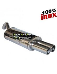 Silencieux échappement arrière Inox 2 sorties Rondes 80mm RENAULT Megane 2 CC 1l5 DCi