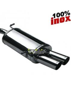 Silencieux échappement arrière Inox 2 sorties Racing 80mm RENAULT Megane 2 CC 1l5 DCi