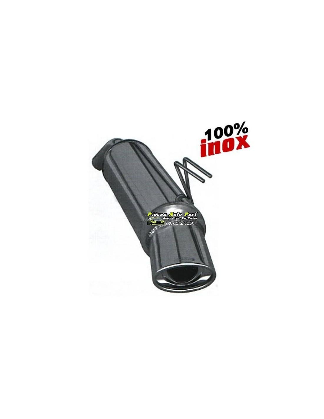 silencieux sportif inox simple sortie ovale 120x80mm renault twingo 1l6 16v rs. Black Bedroom Furniture Sets. Home Design Ideas