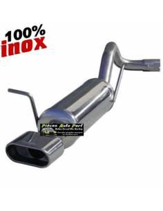 Silencieux échappement Inox 1 sortie Oblong Volkswagen Golf 4 1l9 TDi 150