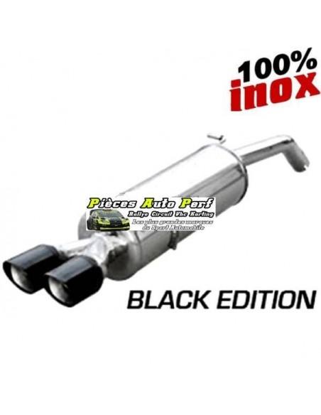 Silencieux échappement arrière Inox 2 sorties X-Race Black 80mm Vw Sirocco 2l0 TDi 170cv
