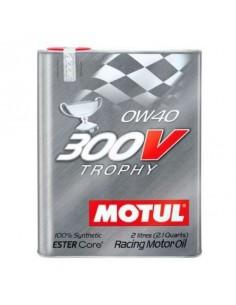 Huile moteur MOTUL 300V Trophy 0w40 Bidon 2 Litres