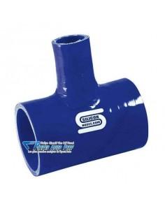 Durite T silicone renforcé Bleu Diamètre 38mm