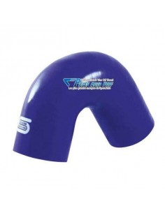 Durite Coude 135° silicone renforcé Bleu Diamètre 16mm