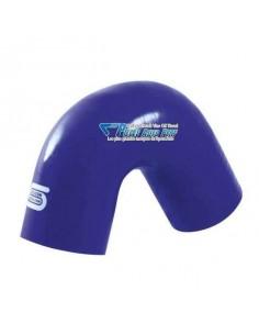 Durite Coude 135° silicone renforcé Bleu Diamètre 25mm